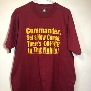 Vintage 1995 Star Trek coffee in that nebula shirt